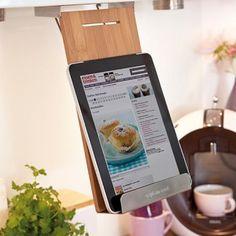 Supporto da cucina per libri, iPad e tablet che si aggancia ai pensili