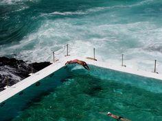 Photo about Swimmer at Bondi Beach Iceberg Club in motion. Image of bondi, australia, swimmer - 10367130 White Shadow Box, White Box Frame, Shadow Box Frames, Canvas Frame, Canvas Art, Canvas Prints, Bondi Icebergs, Original Design, Original Image