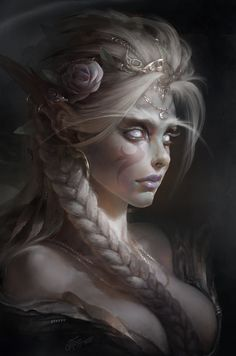 White Priestess by TamplierPainter on DeviantArt