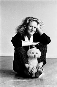 Glen Close posed with her dog
