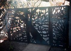 custom plasma cut fence/gate   metal signs   Pinterest   Metals