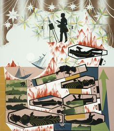 Lari Pittman - This Landscape, Beloved and Despised, Continues Regardless   LACMA Collections
