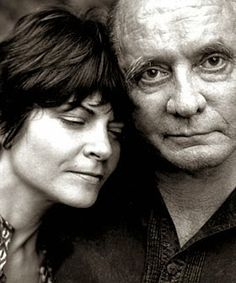 Roseanne Cash with her dad Johnny