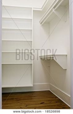 Nice storage for a small walk in closet