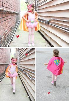 vintage super girl super hero party