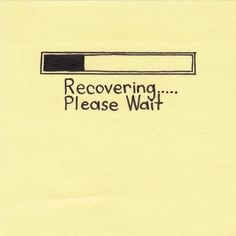It takes time. #recovery #MentalHealth