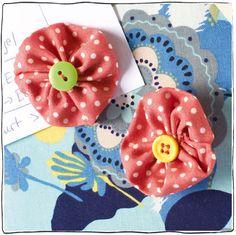 Jojos / Yoyos nähen Tutorial Magnete Blumen
