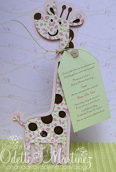Baby shower invitacin cricut create a critter 41 super Ideas Giraffe Party, Giraffe Birthday, Baby Shower Giraffe, Floral Baby Shower, Baby Birthday, Birthday Ideas, Baby Shower Snacks, Baby Shower Parties, Baby Shower Gifts