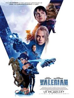 Valerian and the City of a Thousand Planets Starring Clive Owen, Ethan Hawke, Dane DeHaan, Cara Delevingne, Rihanna Dane Dehaan, Valerian Film, Planet Poster, Movies To Watch, Good Movies, Sci Fi Movies, Action Movies, Planet Movie, Alien Planet