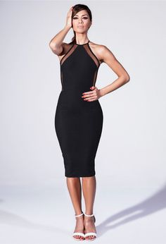 For a more conservative way to bring in the sex appeal, opt for fishnet detailing built into your dresses and skirts.  WorkingLook.com