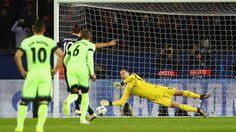 Joe Hart of Manchester City saves Zlatan Ibrahimovic's penalty buy fifa 16 coins: http://www.fifa1314.com/?-ref-68060 discount code: Buyfifa