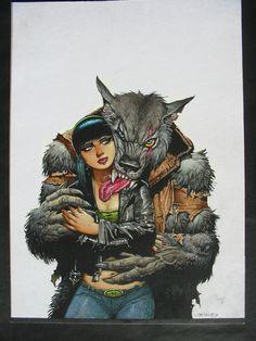 Bisley Hellblazer Werewolf Comic Art