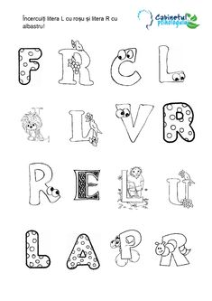 Diferentierea sunetelor R – L în pronunție, scris și citit | Cabinetulpsihologului.ro Activities For Kids, School, Stuff Stuff, Children Activities, Kid Activities, Petite Section, Kid Crafts