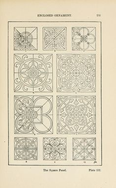 A handbook of ornament; The Square Panel; Plate 152; p 251