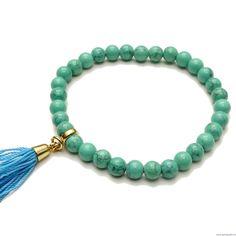 Zestaw druzy z medalionem 30 mm - jasnoróżowy Turquoise Bracelet, Swarovski, Beaded Bracelets, Boho, Jewelry, Fashion, Jewlery, Moda, Jewels