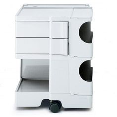 Joe Colombo´s Trolley, small: 2 drawers (9cm), 2 compartments
