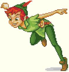 Peter Pan Cross Stitch Pattern by KeenahsCrossStitch on Etsy