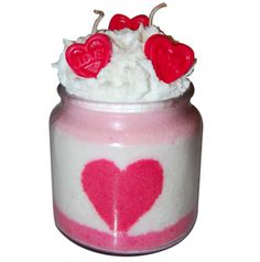 Handmade Valentine's Day Chocolate Covered Cherry Scented Candle DIY