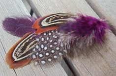 Fall Feather hair clips 2 by PollywogJewelry on Etsy, $5.00