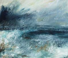 Painting fine landscapes and seascapes of North Yorkshire, the North York Moors and Yorskshire Dales Seascape Art, Abstract Art, Jim Wright, Paintings I Love, North Yorkshire, Waves, Sky, Fine Art, High Tide