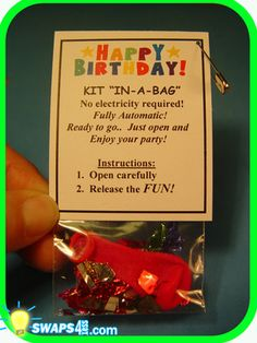 Happy Birthday Party in A Bag Girl Scout Swaps Craft Kit | eBay