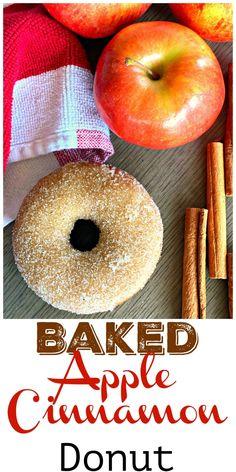 Baked Apple Cinnamon Donuts - Lou Lou Girls Cinnamon Donuts, Cinnamon Apples, Caramel Apples, Apple Caramel, Dump Cake Recipes, Donut Recipes, Dessert Recipes, Desserts, Copycat Recipes