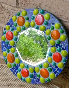 Mexican style round octagon mosaic wall by StarStruckMosaics, $48.00
