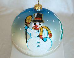 Ornamenti di Natale sfera vetro verniciato che di aniamelisa