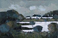 The Lake, Bodafon , oil on canvas, by Wilf Roberts at Thompson's Gallery Robert Thompson, Local Painters, Open Window, Small Paintings, Old Houses, Cool Drawings, Galleries, Welsh, Cottages