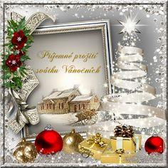 OBRÁZKY PRO VÁS Christmas Cards, Merry Christmas, Table Decorations, Frame, Home Decor, Christmas, Christmas E Cards, Merry Little Christmas, Picture Frame