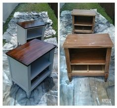 Thrift furniture makeover (just some paint) Furniture Fix, Refurbished Furniture, Repurposed Furniture, Furniture Projects, Furniture Making, Furniture Makeover, Furniture Stores, Cheap Furniture, Luxury Furniture