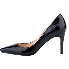 Loslandifen Womens Shoes Closed Toe High Heels Womens Pointed Slender Leather Pumps  Buy Now: $24.99 - $32.99 (On sale from $59.99)