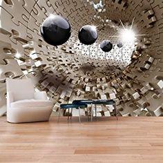 murando – Papier peint intissé 300x210 cm – Papier peint – Tableaux muraux déco XXL – Puzzle abstraction a-A-0190-a-b