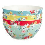 Set of 4 Clifton Rose Cereal Bowls