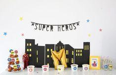 Une «Super Héros Party» pour ses 4 ans Captain America, Spiderman, Superhero, Party, Birthdays, Spider Man, Parties, Amazing Spiderman