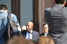 Texas State Rep. James White (R-Tyler) addresses human trafficking during a press conference on the steps of the Texas Capitol on Thursday, Feb. 12, 2015.