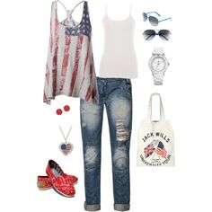 4th of July, created by joell-raylene-hanafin on Polyvore