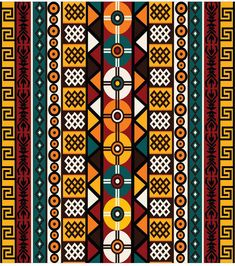 Illustration of Ethnic background with tribal motifs vector art, clipart and stock vectors. Arte Tribal, Tribal Art, Motifs Textiles, Afrique Art, African Art Paintings, African Textiles, African Patterns, Ethnic Patterns, Tribal African