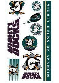Caseys Distributing 3208513873 Mighty Ducks of Anaheim Temporary Tattoos by Caseys Distributing. $14.25. What a fun way to show your team spirit! Each package includes one sheet of 10 tattoos. The tattoos are completely safe, non-toxic, hypo-allergenic, and all ingredients are FDA regulated . They last for days and can be easily removed with household rubbin