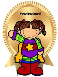 Fichas de Primaria: Medallas escolares Cute Crafts, Diy And Crafts, Miss Candy, Stickers Online, Worksheets For Kids, Google Classroom, Preschool, Clip Art, Education