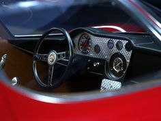 "vintageclassiccars: ""Alfa Romeo Stradale study, design Scaglione at Bertone. "" Scaglione parted Bertone since some years when he designed the Stradale. BTW, the cars were built by Marazzi. Alfa Romeo 4c, Alfa Romeo Giulia, Automobile, Cool Sports Cars, Sports Sedan, Classic Italian, Italian Style, Twin Turbo, Hot Cars"