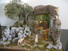 Christmas Crib Ideas, Christmas Crafts To Make, Christmas 2016, Simple Christmas, Merry Christmas, Christmas Decorations, Diy Nativity, Christmas Nativity Scene, Salon Design