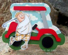 Sue's Stamping Stuff: Art Impression Gordon Golfer-Father's Day