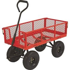 Outdoor Gardening Carts - Steel Cart 34inL x 18inW 400Lb Capacity * Click on the image for additional details. (This is an Amazon affiliate link)