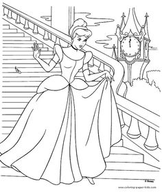 Cinderella Coloring Pages To Print Procoloring
