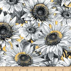 """Bumble Bee Hive Garden Bees Black Cotton Fabric Wilmington A Bees Life 24/"""" Panel"""