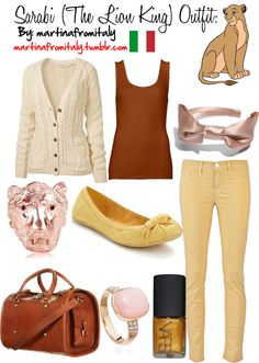 """""""Sarabi (The Lion King) Outfit"""" by martinafromitaly ❤ liked on Polyvore"""