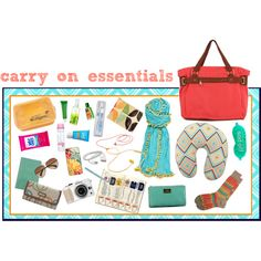 carry on essentials by eternal-voyager, via Polyvore