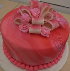 Image detail for -priscilla s pink tye dye cake in fondant makes me want to have a party ...