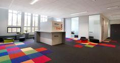 Espace détente dans les bureaux de Technip à Lyon, France